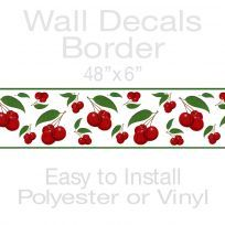 Juicy Cherries Fruit Decorative Wall Decal Border