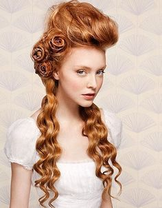 Victorian Hairstylebe great for steampunk!!! ♥