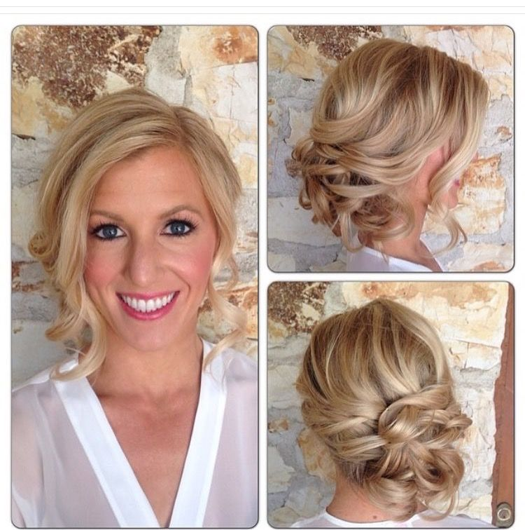 Hairstyle For Wedding Front View: I Like The Pieces Down In The Front, But It Would Need A