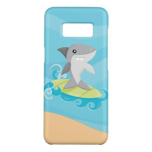 Fun Surfing shark Beach fun Samsung Galaxy S8 case