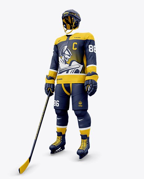 Men S Full Ice Hockey Kit Mockup Half Side View In Apparel Mockups On Yellow Images Object Mockups In 2020 Design Mockup Free Free Psd Design Free Packaging Mockup