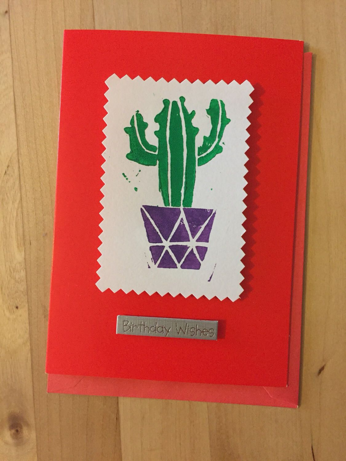 Cactus Birthday Card by LizzieBoxCreates on Etsy https