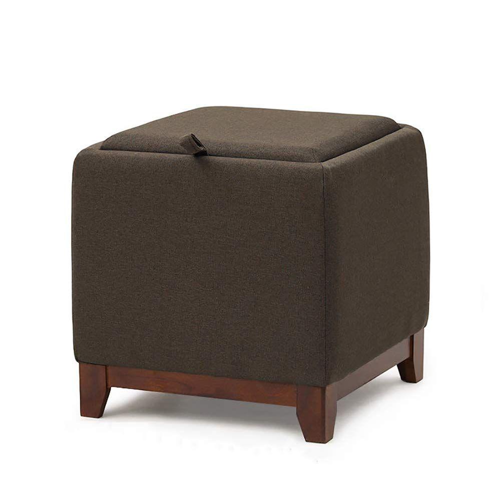 Storage Ottoman Footrest Stool Bench Cube Fabric Storage Box