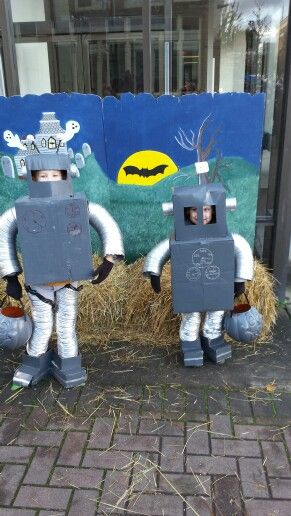 These are our boys 4 and 8. We made their costumes from scratch the week before halloween..so much fun as a family project everyone got involved. Ours boys had a blast won 2 costume contests that day and made it in the paper as most creative. PDN Northwest pa love it