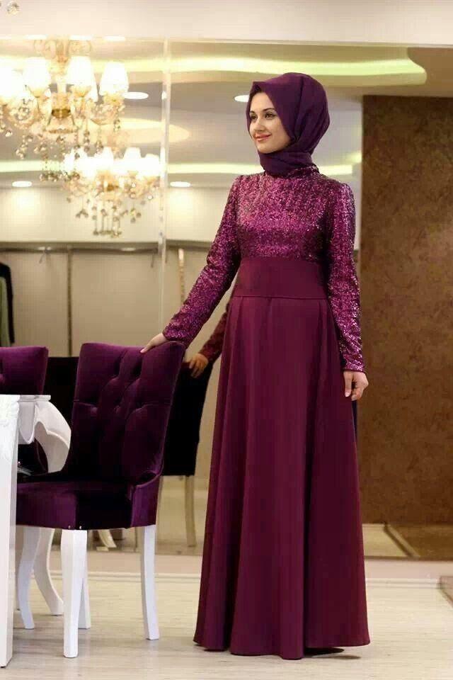 Model Baju Muslim Pesta Pernikahan Bahan Brokat Desain