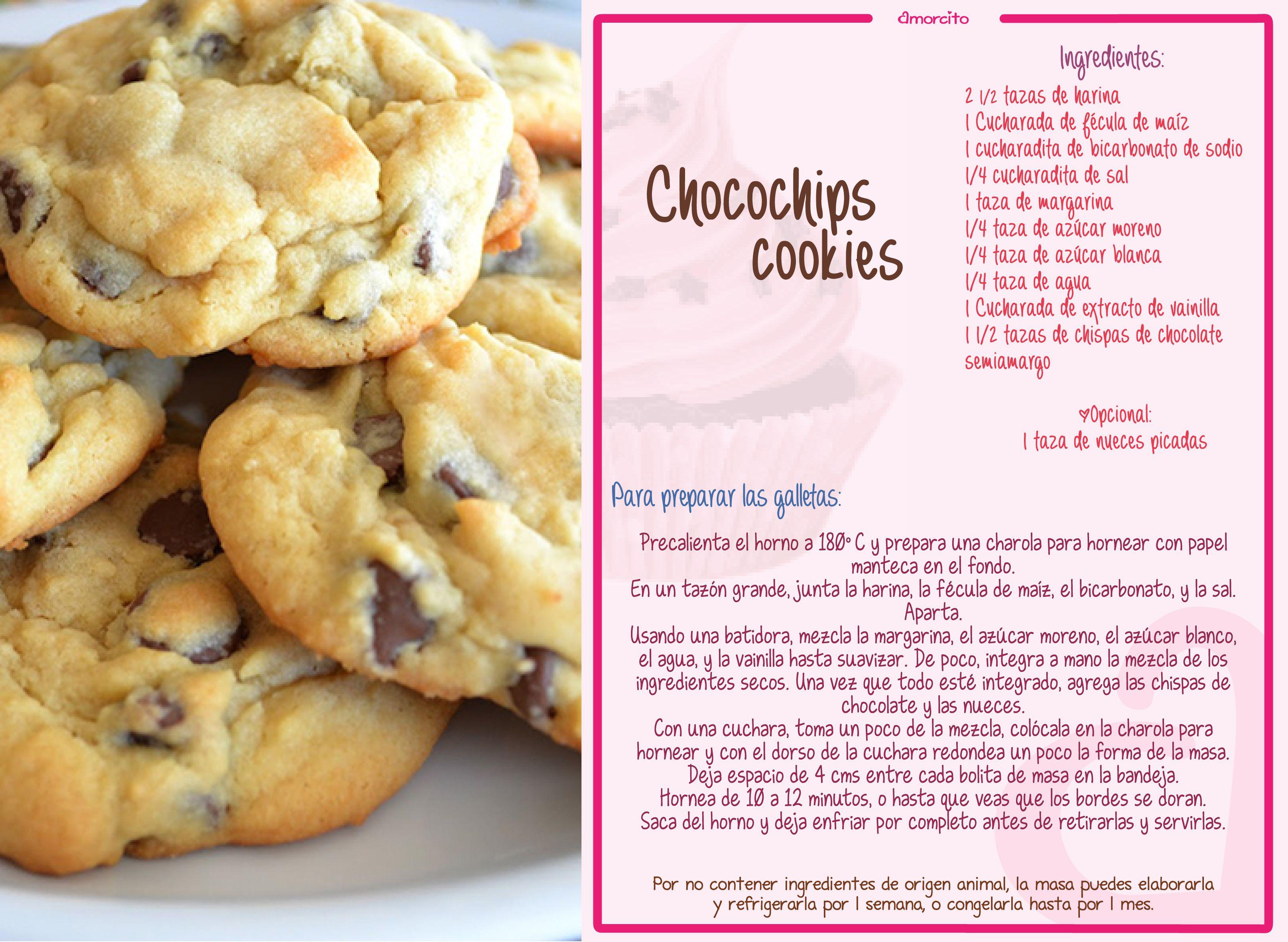 Galletas con chispas de chocolate | Postre | Pinterest | Chocolates ...