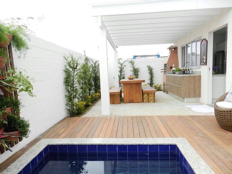 Varanda piscina pequena rea de lazer pinterest for Piscinas exteriores