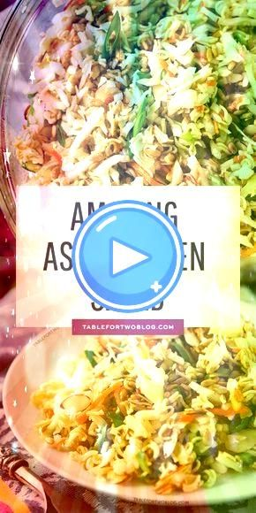 Amazing Asian Ramen Salad  MAIN DISH   Ridiculously Amazing Asian Ramen Salad  MAIN DISH    VIDEO This Asian Ramen Noodle salad takes 20 minutes to whip together and can...