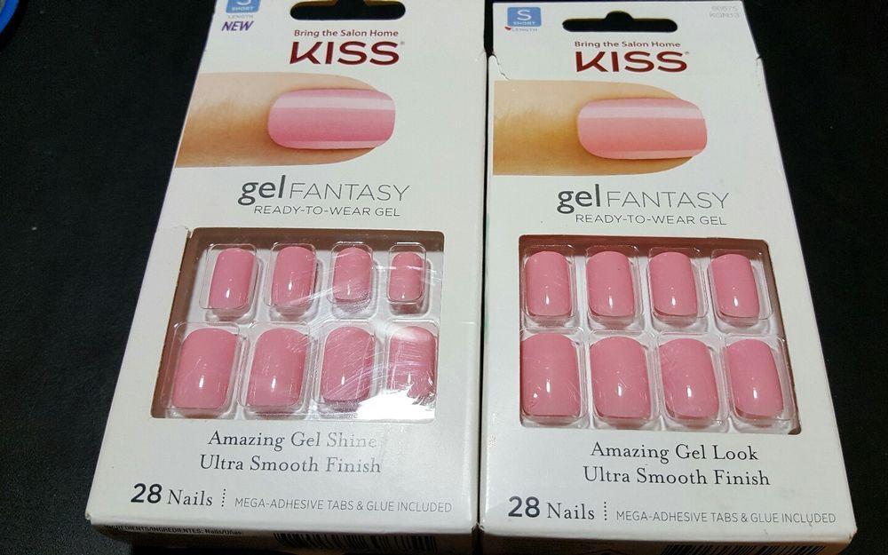 2 kiss gel fantasy ready-to-wear gel nails ~ 28 nails ~ short length ...