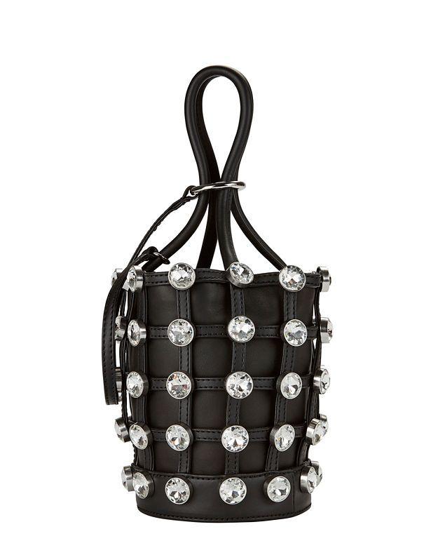 257f2bbeea23 ALEXANDER WANG Roxy Crystal Cage Mini Bucket Bag.  alexanderwang  bags   leather  hand bags  bucket  crystal