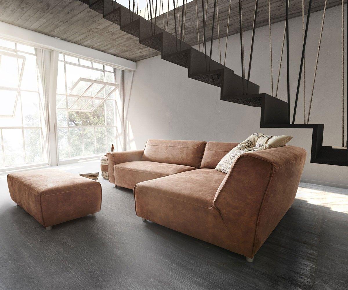 Ecksofa Loft 255x160 Braun inklusive Hocker by Ultsch | chair lobby ...