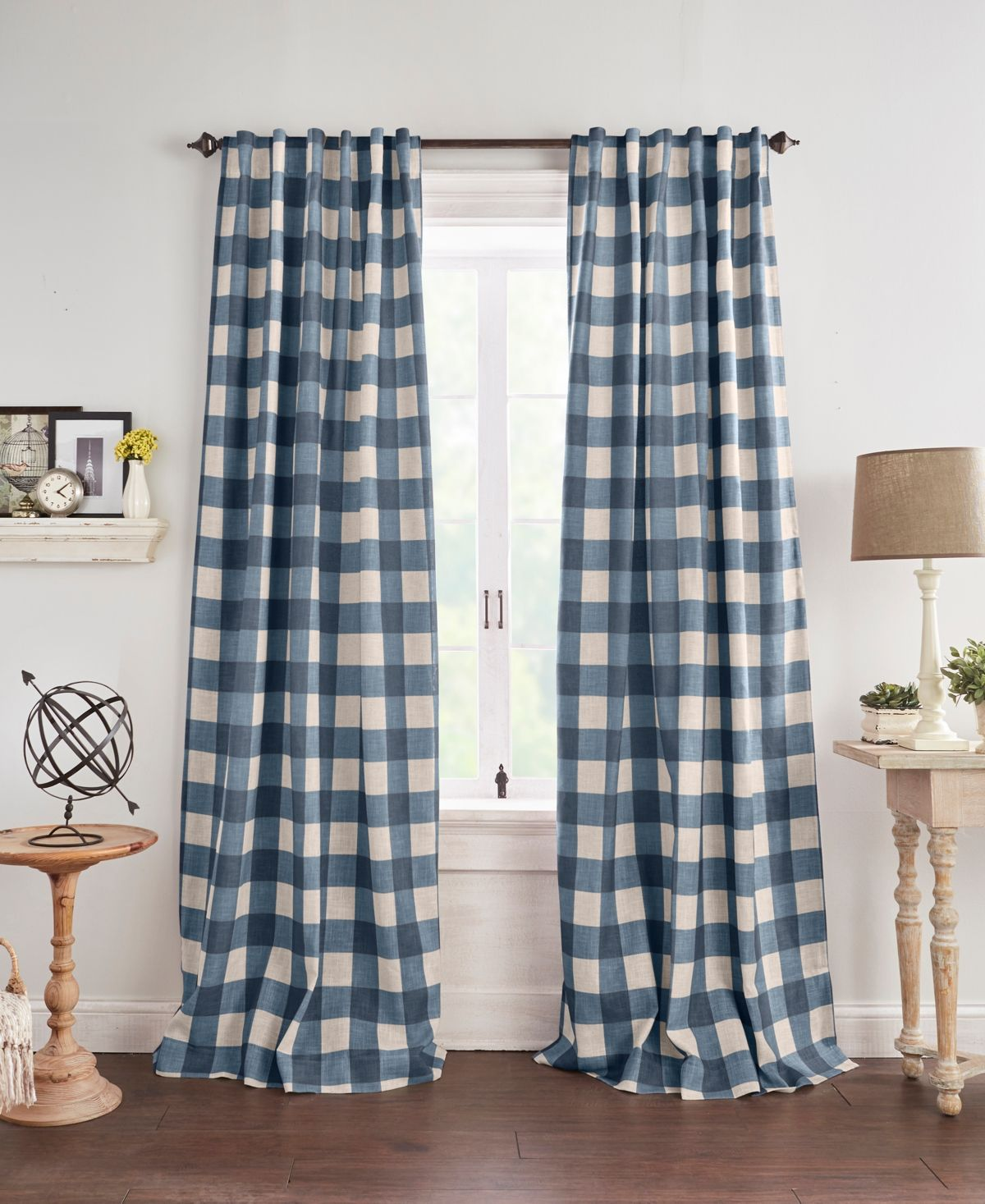Elrene Grainger Buffalo Check 52 X 95 Blackout Window Curtain Reviews Window Treatments Blinds Macy S Panel Curtains Home Window Curtains