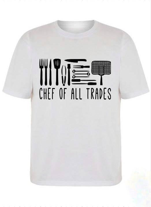 217460cd2 Chef Of All Trades T Shirt, mens shirt, womens shirt, chef shirt, chef  clothes, kitchen sayings,