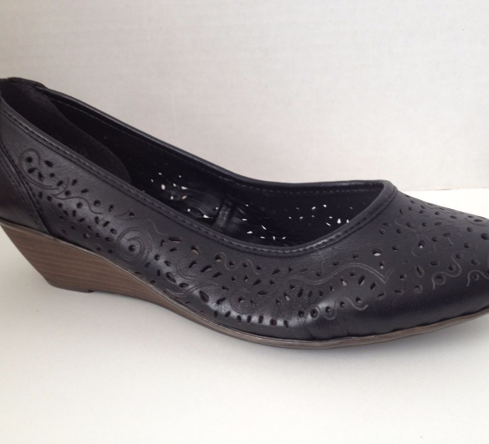 Rieker Shoes Size 36 Black Wedge Heels US 6 Antistress