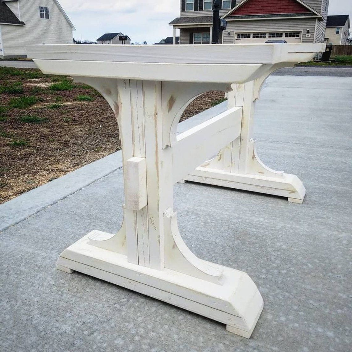 Farmhouse trestle legs table legs diy farmhouse table