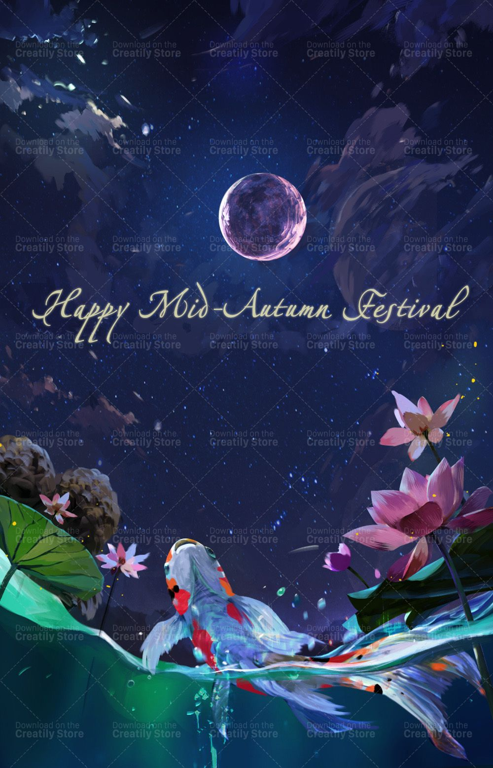 Mid Autumn Festival Vector Psd Template Xcreative Mid Autumn Festival Happy Mid Autumn Festival Autumn Moon Festival