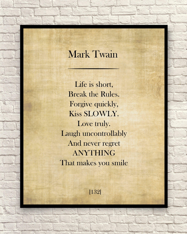 Mark Twain Quote, Mark Twain Art Print, Mark Twain Book Page, Custom Quote, Custom Art Print, Book Page Print.