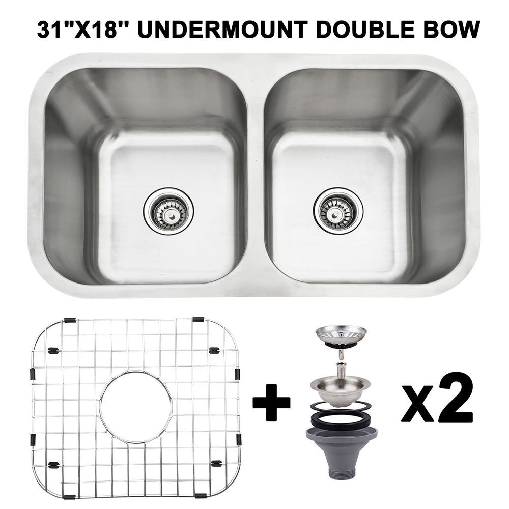 31 X18 Double Bowl 18 Gauge Stainless Steel 9 Deep Kitchen