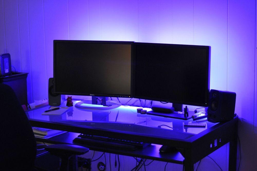 Details About Led Gaming Desk Lights New 2016 Dual
