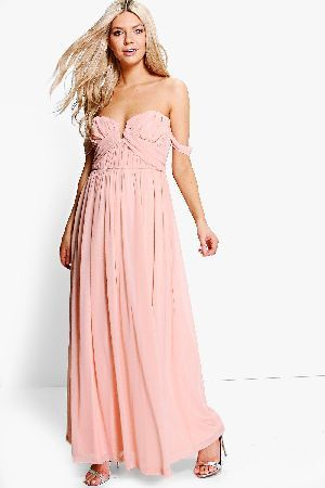 8e54701fdac4 #boohoo Amie Mesh Off Shoulder Maxi Dress - blush DZZ64509 #Boutique Amie  Mesh Off
