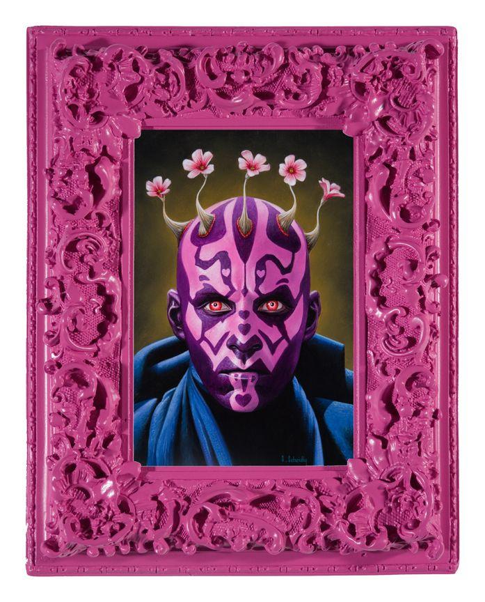 """La obra de  """"The Pinks"""" de Scott Scheidly convirtiendo iconos masculinos con tonos rosa. 3"""