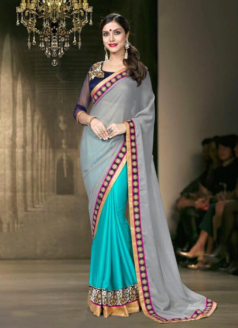 Auspicious georgette designer saree designer sarees pinterest