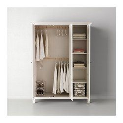 hemnes kleiderschrank 3 t rig wei gebeizt ikea 349 ikea pinterest hemnes. Black Bedroom Furniture Sets. Home Design Ideas