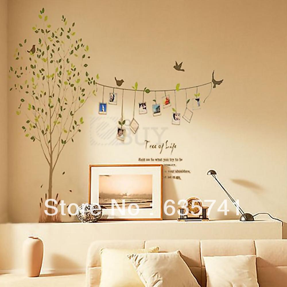 фото Нарисованное дерево, виниловая наклейка на стену ...