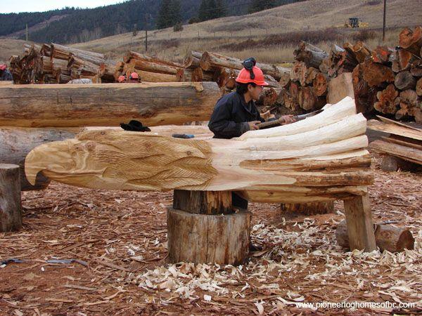Courtesy of pioneer log homes b c wood carvings