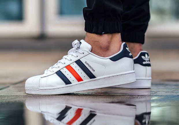 Adidas Womens Superstars Adicolour Blue From Landau Store
