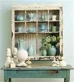 Window frame turned cabinet.