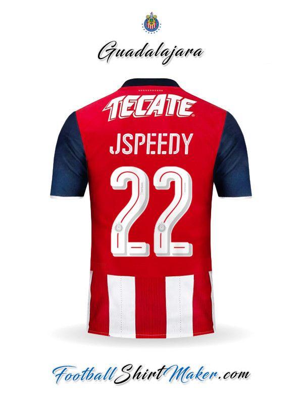 f0a78e5984ebb Crear Camiseta de Guadalajara 2016 2017 con tu Nombre y Numero ...