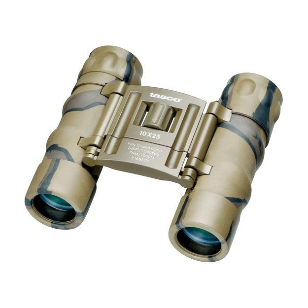 Tasco Essentials 168BCRD 10x 25mm Binocular - Brown Camoflauge