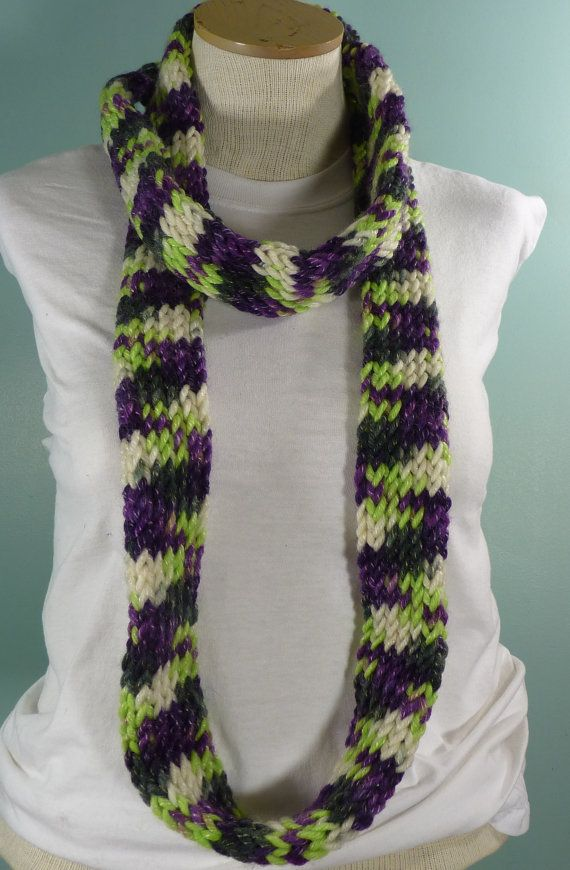 Knit Infinity Scarf Neckwarmer Fashion Accessory by JandSKnitts $23.00