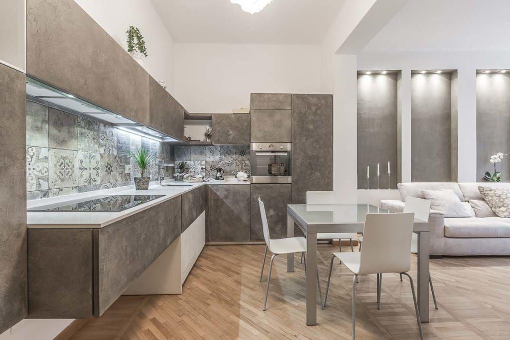 Cucina open space cucina in stile di facile ristrutturare nel