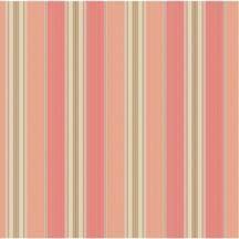 Coral Striped Wallpaper. Waverly, Wallpaper border kids