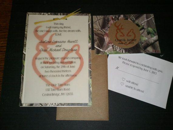 Camo Wedding Doe and Deer Invitation KIT by ernigirldesigns 250