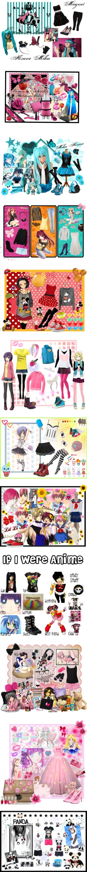 """Anime inspired outfits - by me"" by kawaii-neko-chan ❤ liked on Polyvore"