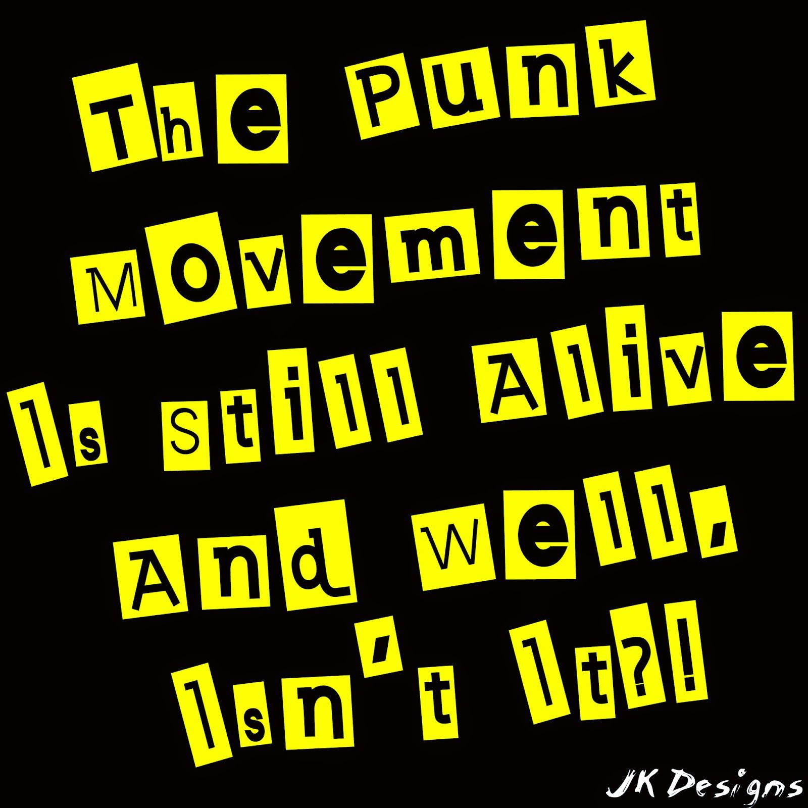 Mijn T-shirt-prints: Punk-Movement
