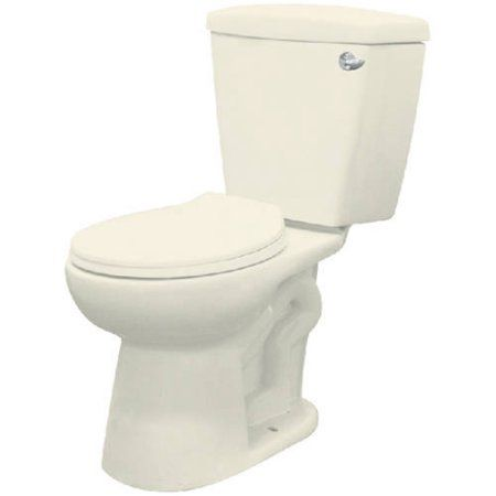 Transolid Harrison 2-Piece Elongated Vitreous China Toilet with Right-Hand Trip Lever, Available in Various Colors, Brown