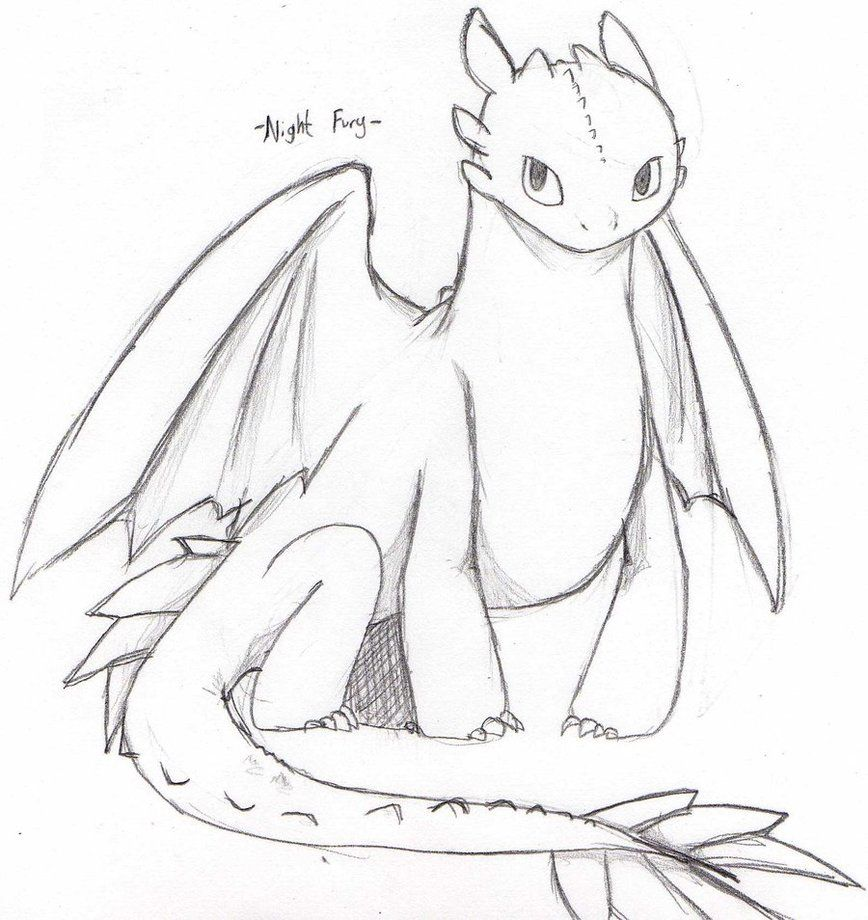 Night Fury Drawing Clipart dyr