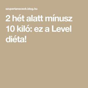 level klinikai diéta)