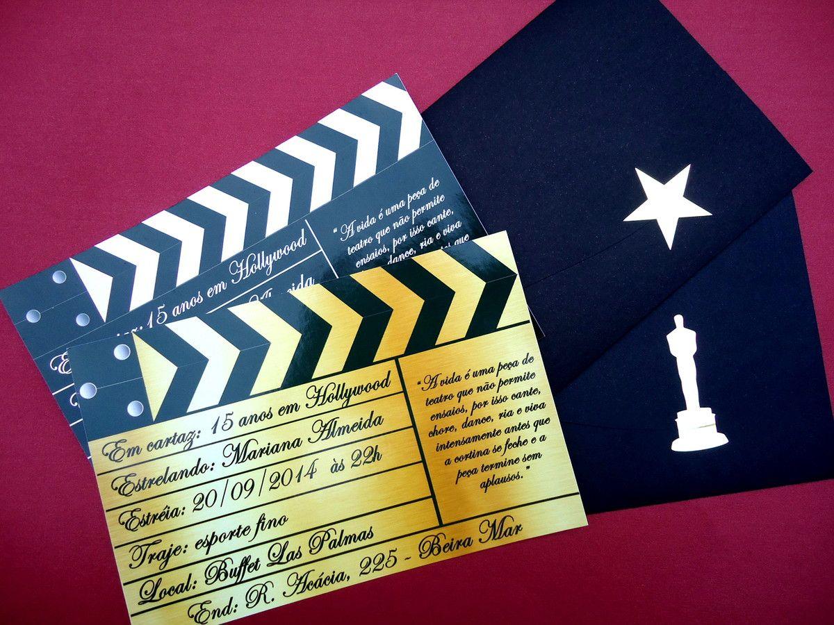 Convite De Aniversario Evangelica Para 15 Anos: Convites De Aniversario De 15 Anos Tema Oscar