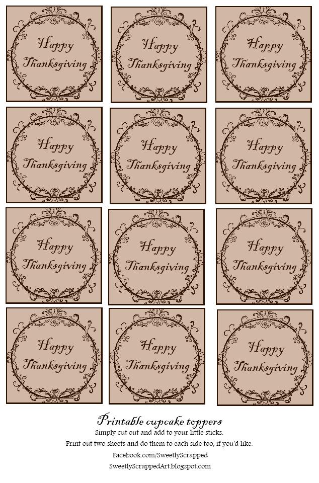Des Cupcake Toppers Ou Embellissements Pour Vos Cartes Et Pages Ce Modele Existe Thanksgiving Printables Valentines Printables Free Wedding Scrapbook Pages