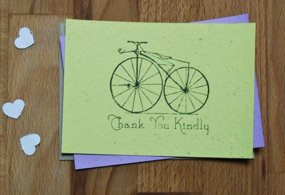 Plantable Seed Paper Thank You Cards Vintage by jojobeandesigns, $25.00