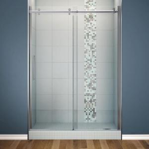 Maax Halo 59 In X 78 3 4 In Semi Framed Sliding Shower Door