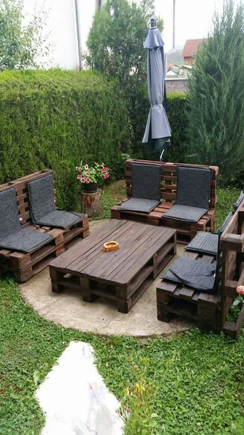25 Small Backyard Landscaping Ideas Pallet Crafts Small