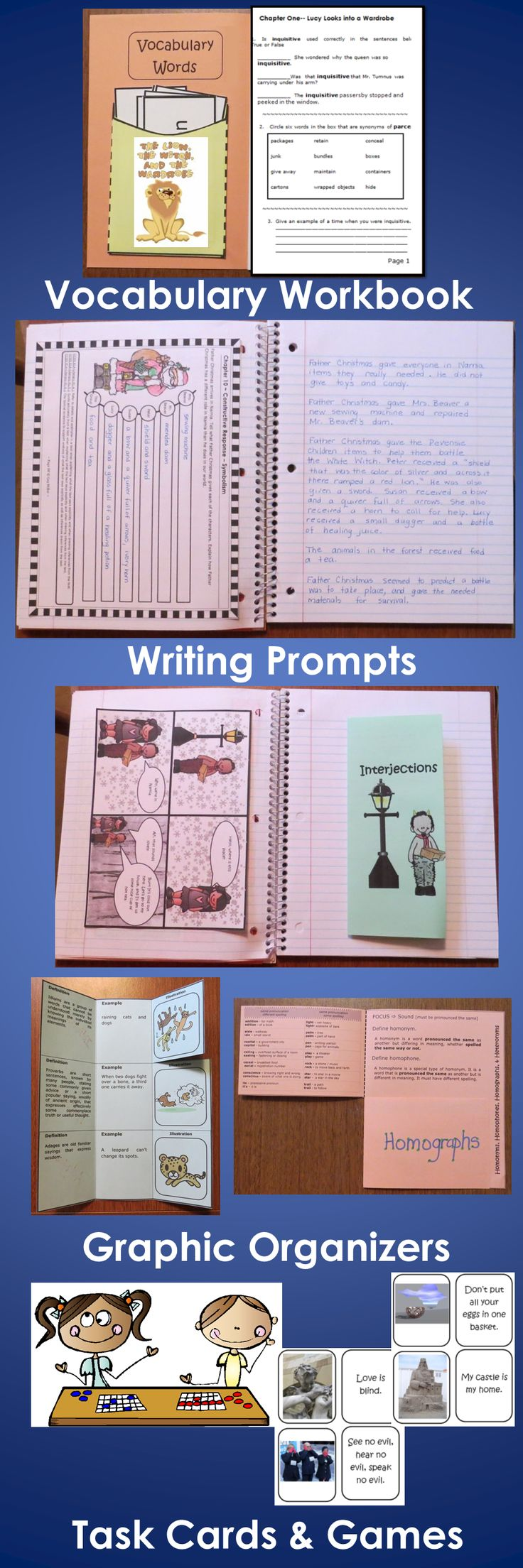 The Lion The Witch And The Wardrobe Novel Study Digital   The Lion The Witch And The Wardrobe Interactive Notebook  Activity Unit  Contains Graphic Organizers For An Interactive Notebook And Game Activities   How To Write A Essay For High School also Essay Examples For High School  High School Essays Topics