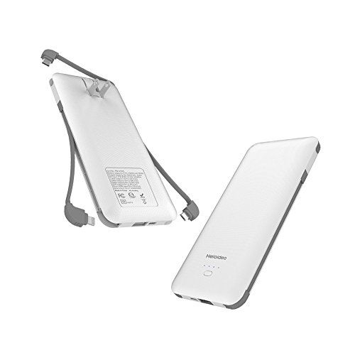 Heloideo 10000mAh Portable Charger Compact Power Bank External ...
