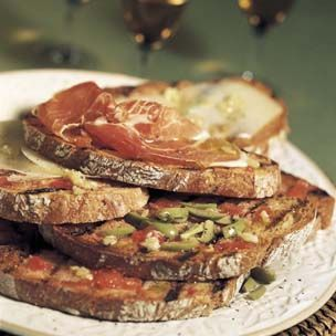 Grilled Bread with Ripe Tomatoes and Olive Oil from The Food Channel and Williams-Sonoma
